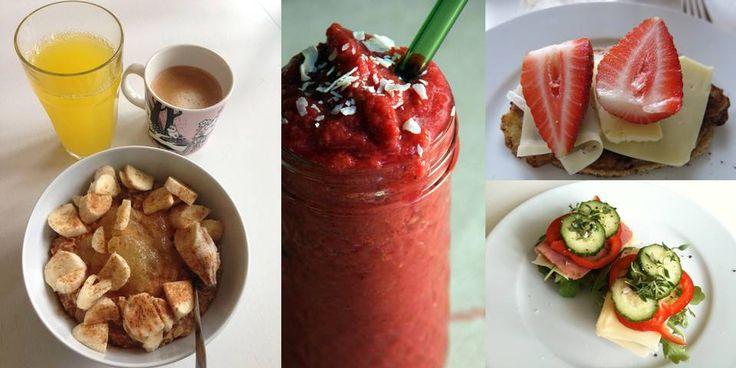 SUNN OG GOD FROKOST: Hvem sa at frokost er kjedelig? Gjør noen små grep for å sikre en bedre start på dagen. FOTO: Line Gåsland og Kristine Økern
