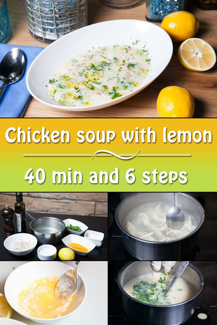 Avgolemono is a Greek chicken soup with lemon. It is very easy to cook!