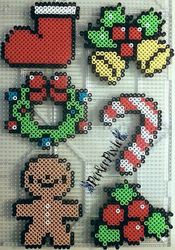 Christmas ornaments perler beads by PerlerPixie on DeviantArt