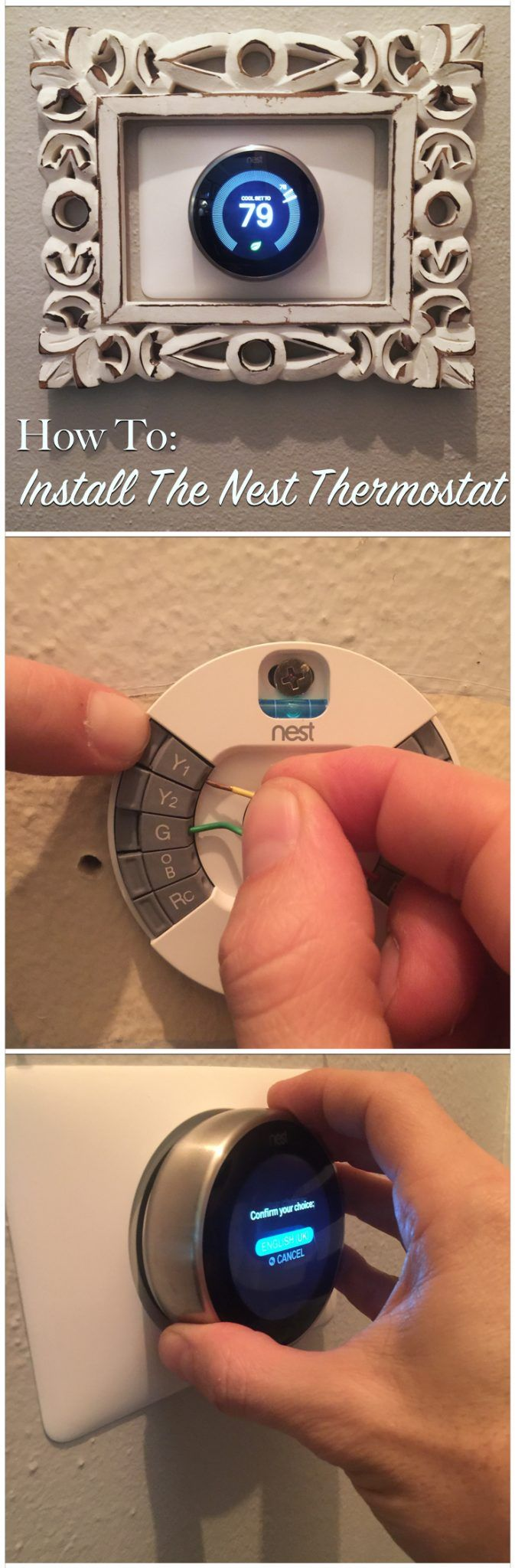 How To: Install The Nest Thermostat  Seriously. I need out over these kind of home improvements.