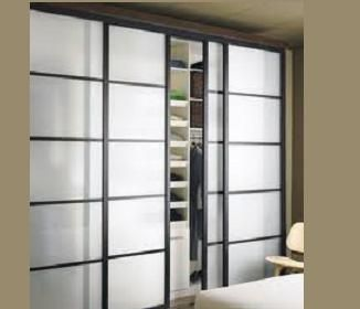 Bypass Closet Door Glass | Frosted Glass Closet Doors, Tempered. Recycled,  Framed .
