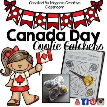 Canada Day is a day to CELEBRATE! Celebrate Canada's 150th birthday with this fun cootie catcher/fortune teller. Use it for taking notes, reviewing Canadian facts or quizzing your students. Two versions are included. 4 Colour and Blackline versions Facts about four