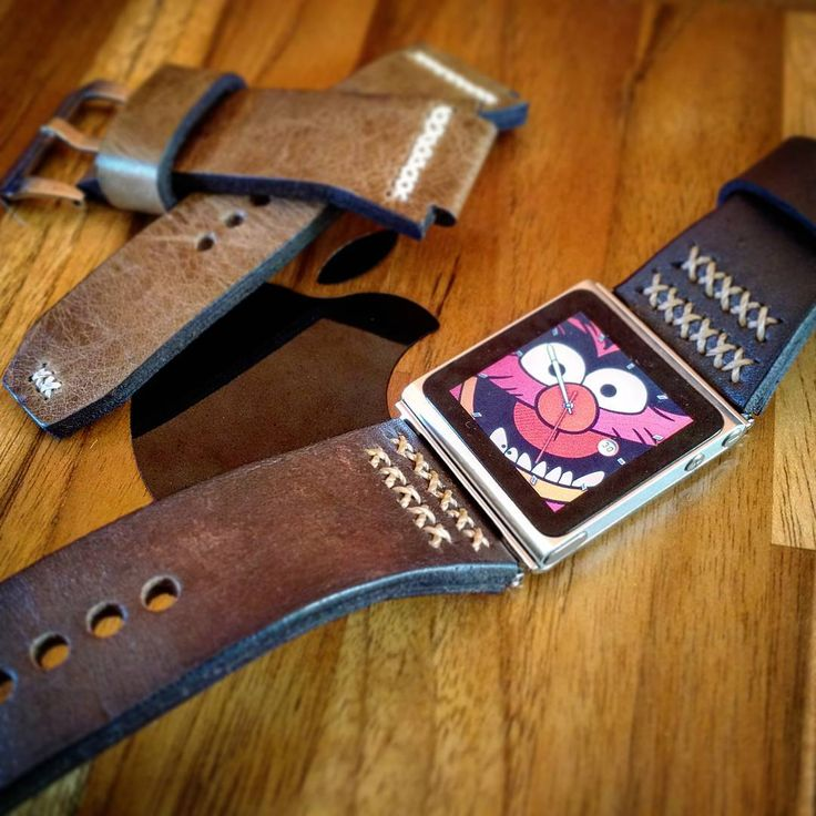 #applewatch  #apple  #ipodnano6  #ipodnano  #leatherstrap  #leather  #handmade  #manstyle  #muppets #animal