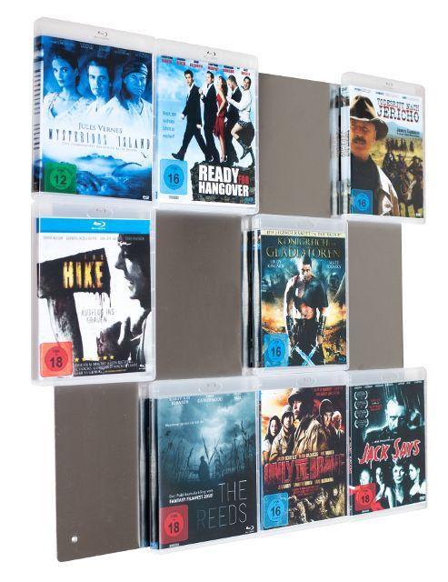 CD Wall-CD-Wall - Mehr als nur ein normales Blu-Ray-Regal. Zaubern Sie sich ein eigenes Heimkino mit einem Blu-Ray Wandregal in Ihren Wohn-, Büro- oder Geschäftsräumen!