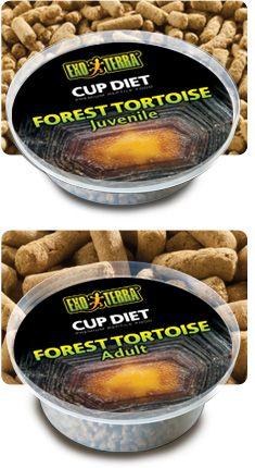 Alimento Diet Cup Tortuga Forrest EXOTERRA  Exo Terra Cup Diet para Tortuga de Bosque es un delicioso alimento para reptiles, formulado y envasado minuciosamente