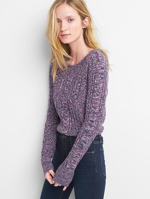 Raglan cable-knit sweater - Tall Medium or Large