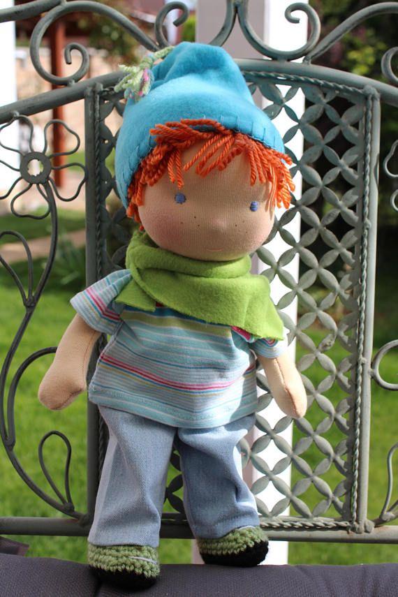 Waldorf doll125 tall doll steiner doll organic doll