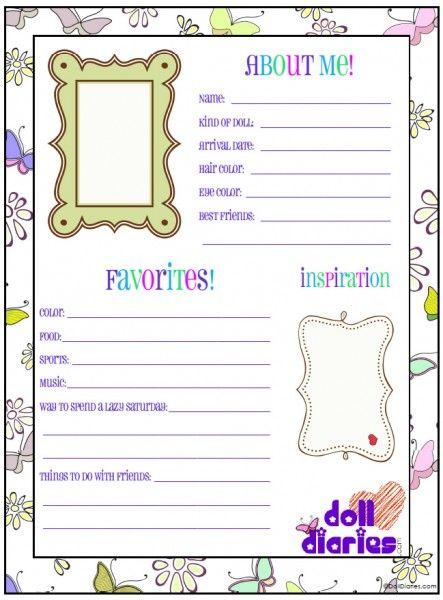 Free printable doll ID worksheet