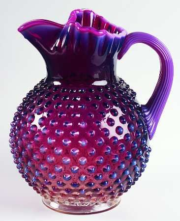 Plum opalescent hobnail. My favorite color and pattern.