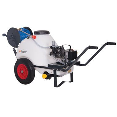 Comet 120 Ltr Wheelbarrow Sprayer 18.5 Ltrs Min 230 Volt Electric Pump available from Agratech