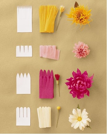 Crepe Paper Flowers from Martha Stewart