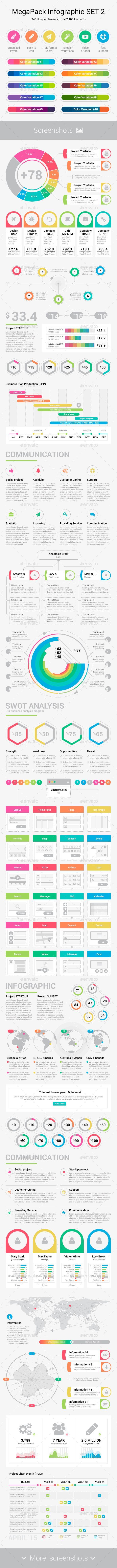 MegaPack Infographic Set 2 - Infographics