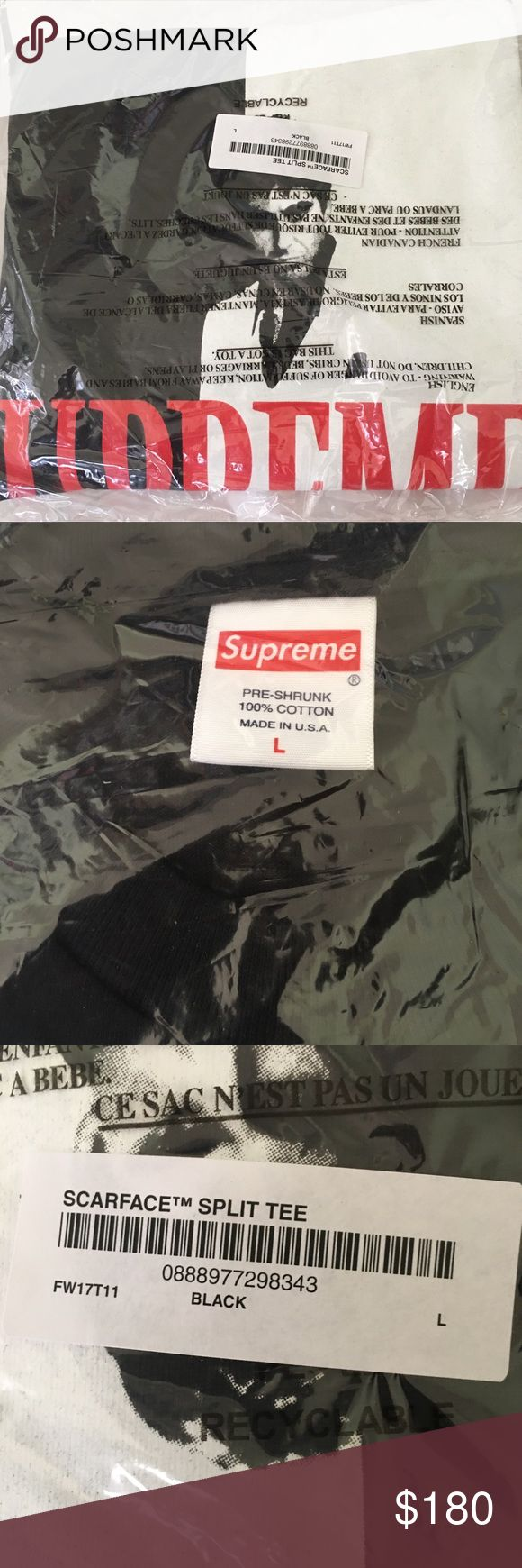 """Supreme """"Scarface"""" Split Tee Brand New(sealed), one of the popular colors! Supreme Shirts Tees - Short Sleeve"""