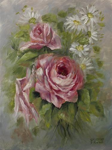"Daily Paintworks - ""Pretty Pink"" by Bobbie Koelsch"