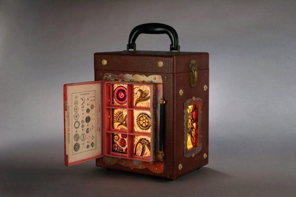 Lightbox Suitcase, At the 9th Annual Restore Recycled Art Show in Seattle...: Art Show, Recycledwho Knew