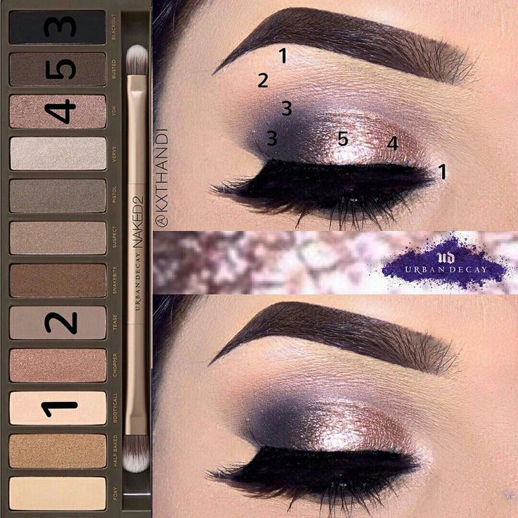 Urban Decay Naked 2 Palette eyeshadow look