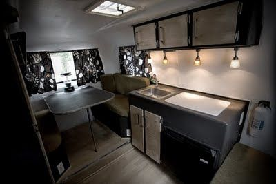 Travel Trailer Interior Renovation | Stephanie & Taylor evaluated things in their lives, considered a year ...