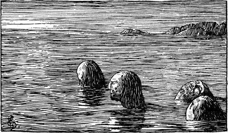 Halfdan Egedius: execution of the seidmenn from Olav Trygvason's saga