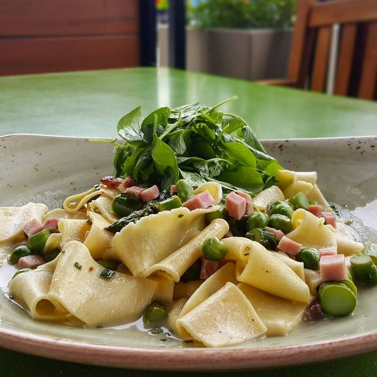 via @tendergreenskingst: #tgkingst Tonight we have spring pasta house-made pappardelle English peas fava beans asparagus house cured ham and watercress.#eatstagram #yumstagram #fresh #sfwine #decadent #eatfresh #homesweethome #california #farmtofork #farmtotable #local #goodeats #foodie #grubbin #yelp #sf #soma #special #dinner