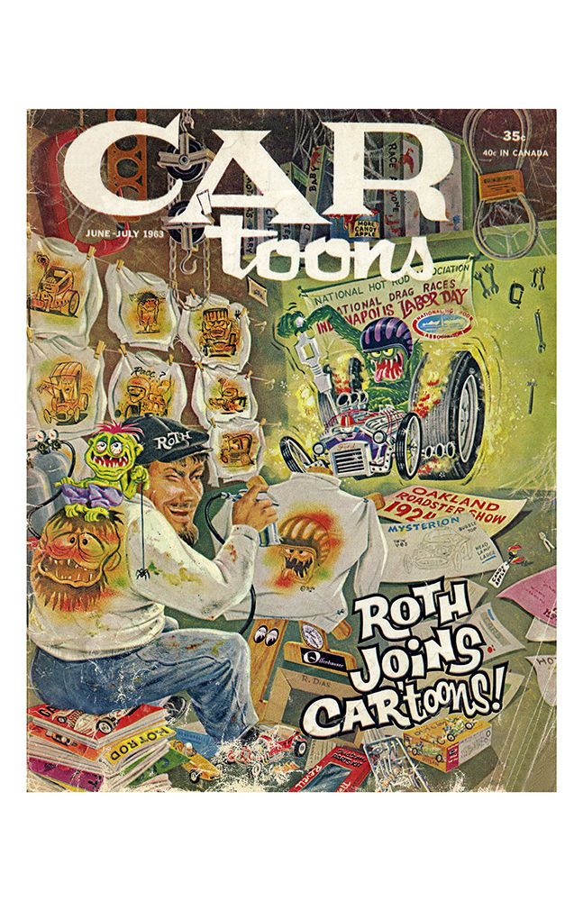 New Hot Rod Poster 11x17 Car Toons Magazine cover art Ed Roth July 1963