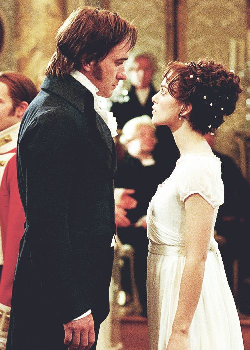 Pride and Prejudice 2005 I really don't care for this movie.  But it has pretty music and I love her hair in this scene!