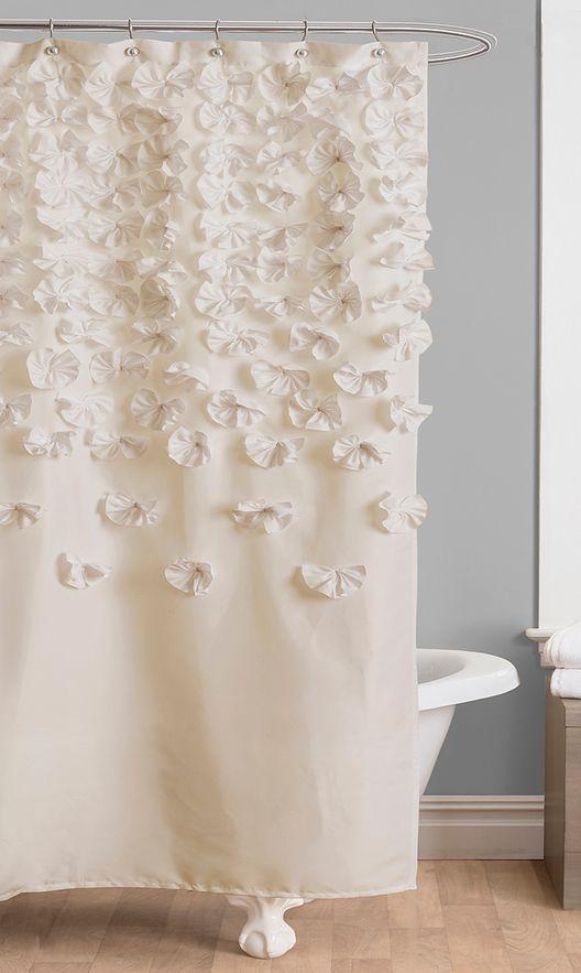 Ivory Lucia Shower Curtain   Apartment Ideas   Pinterest