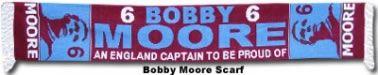Bobby Moore West Ham United England Legend scarf