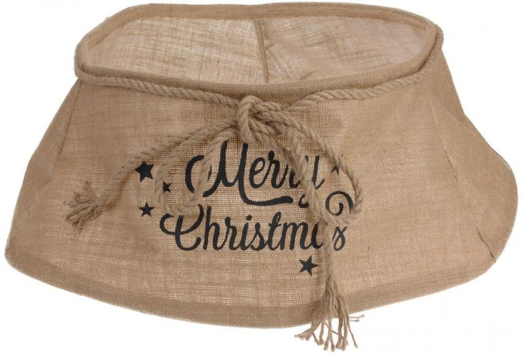Classic Jute Canvas Merry Christmas Xmas Tree Skirt Stand Cover Tidy in Home, Furniture & DIY, Celebrations & Occasions, Christmas Decorations & Trees | eBay