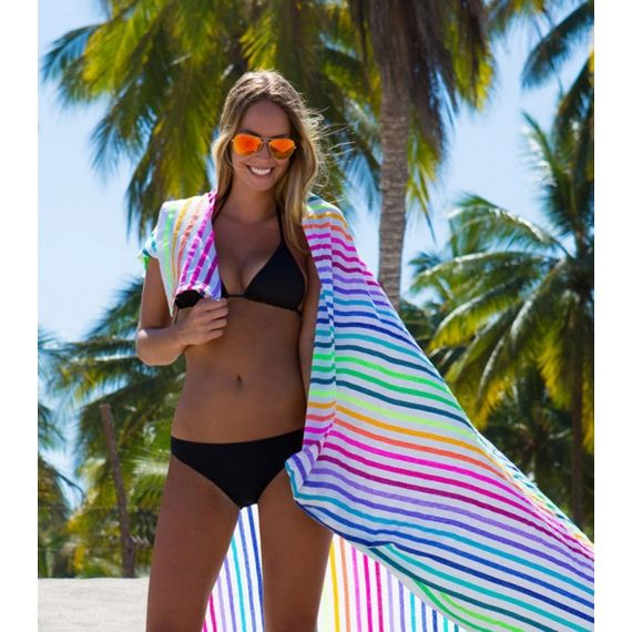Las Bayadas La Lucia Beach Blanket Multi. £45. This lovely lightly woven beach blanket is made in Mexico, using the softest traditional Mexican fabrics. Worldwide Shipping Available.