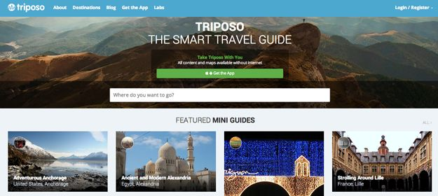 Triposo - Triposo is an extensive travel guide covering dining, tours, and accommodations that is completely available offline, making it super useful for trips abroad.