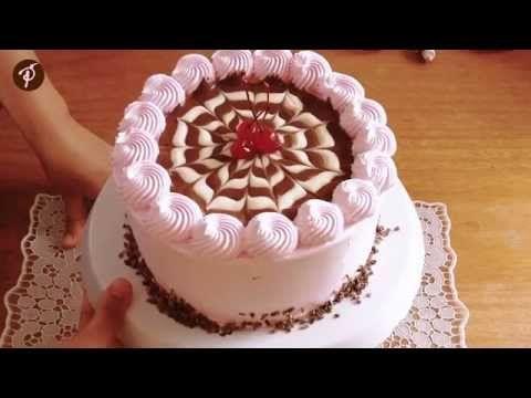 Decoração de bolo em 1 minuto - Bolo Napolitano - YouTube