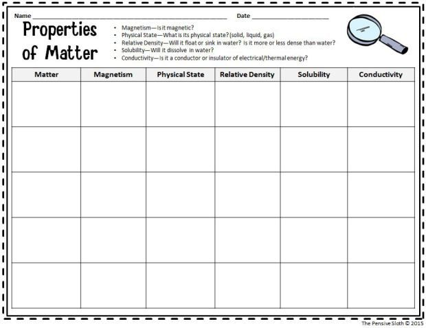 Printables Properties Of Matter Worksheet 1000 ideas about properties of matter on pinterest states physical and science
