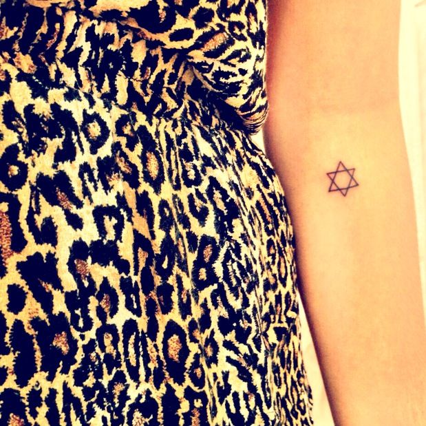 Star of David tattoo--love the placement!