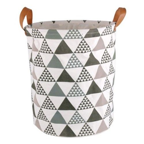 Geometric Peaks Canvas Laundry Storage Bag -  $39 from Milan Direct