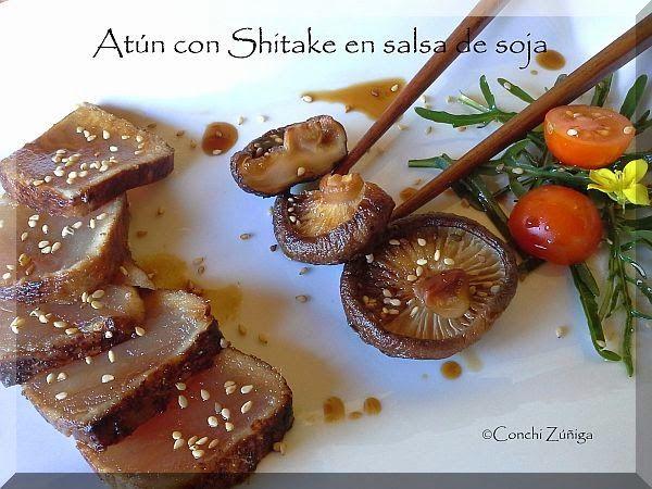 Atún Con Shitake En Salsa De Soja, recetas atún