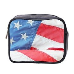Folded American Flag Mini Toiletries Bag 2 Front