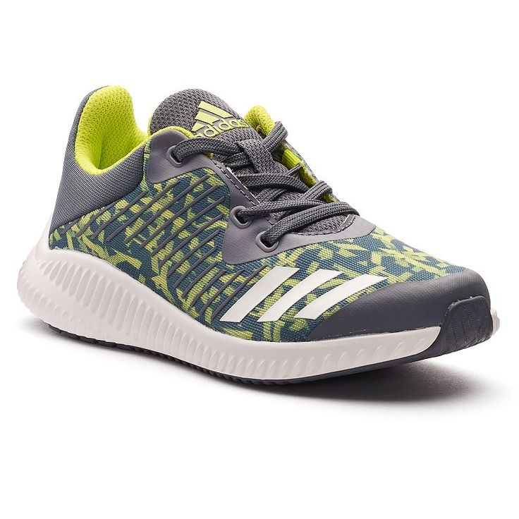 Adidas FortaRun Boys' Running Shoes, Size: 2, Black