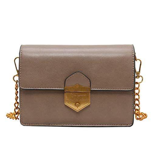 0ed2db325ad6 Women's Crossbody Bag Handbag Key Bag with Golden Chain Big Capacity ...