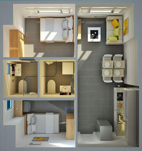 Berkeley Residences - 2-Bedroom Unit Floor Plan #condoForSale #realEstate #manilacondo www.mymanilacondo.com/
