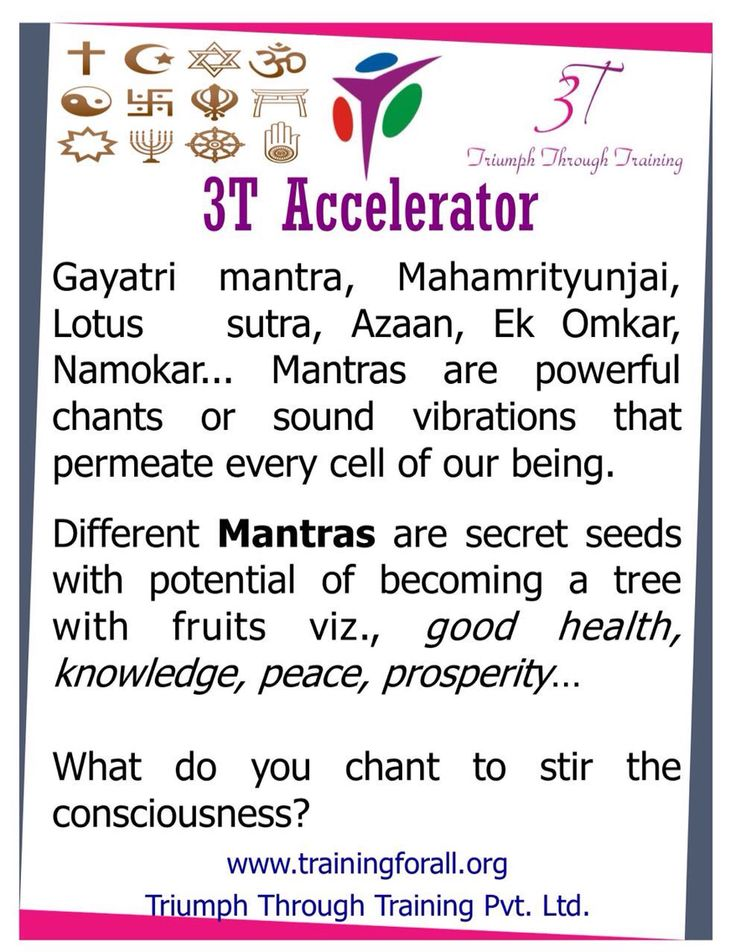 #3t_accelerator of today is on secrets of Mantras. #triumphthroughtraining