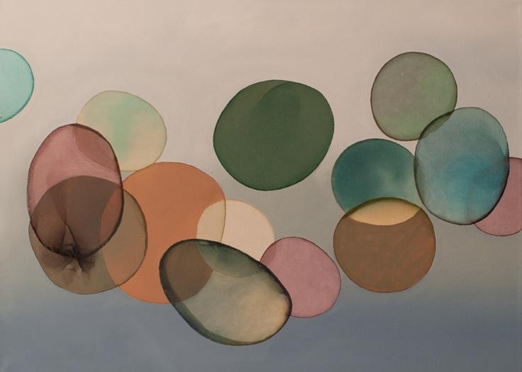 2012-023 • pithari - pithari 5 - 70 x 100 cm - oil and lacquer on canvas - olaj, lakk, vászon - romvári márton contemporary art