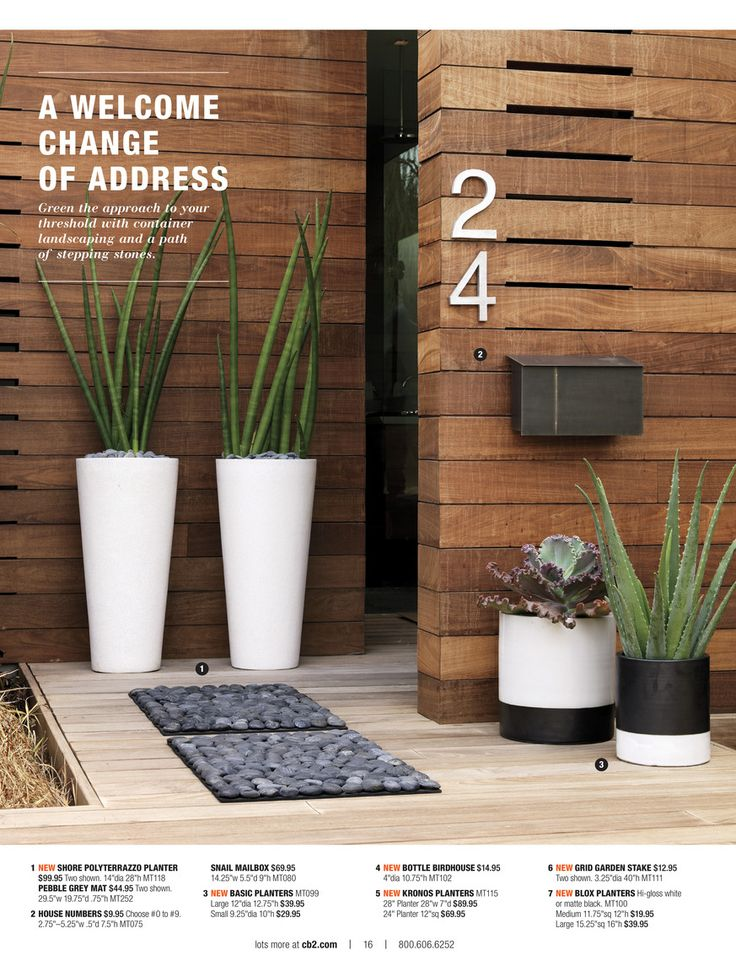 CB2 - Planters and House Numbers