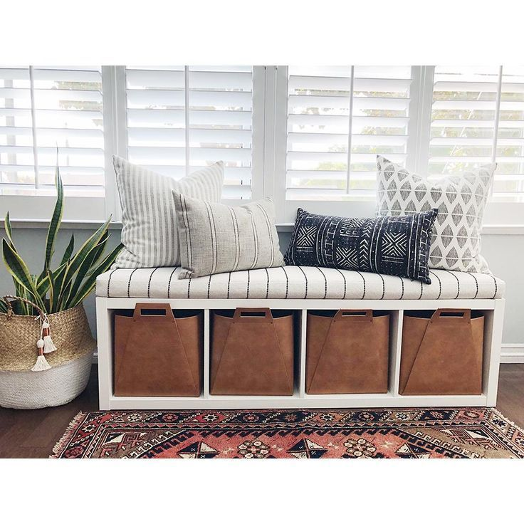 Hack Use An Ikea Kallax Shelf And Our Tonic Living Foam Bench Cushion To Create A Cozy And Comfy Benc Living Room Bench Storage Bench Seating Ikea Living Room #sitting #bench #living #room