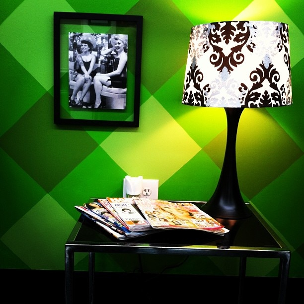 GREEN WALL BY DRYER CHAIRS