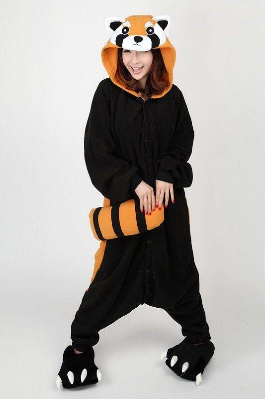 Racoon Red Panda Animal Adult Kigurumi Onesie