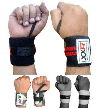 Weight Lifting Wrist Wrap Power Lifter Wraps Supports Gym Workout Fist Wrist Straps Exercise Fitness (Black-Red): Amazon.co.uk: Sports & Outdoors