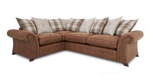 Woodland Right Hand Facing 3 Seater Pillow Back Corner Sofa