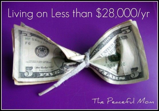 How this family of six thrives on less than 28,000 dollars a year. Great budgeting ideas.