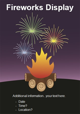 Eyecatching idea for PTA/PTO Firework display / Bonfire Night Poster.