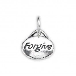Sterling Silver Forgive Message Charm